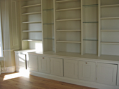 Painted library/study unit